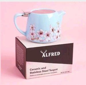 ALFRED Designer Ceramic Stainless Steel Teapot